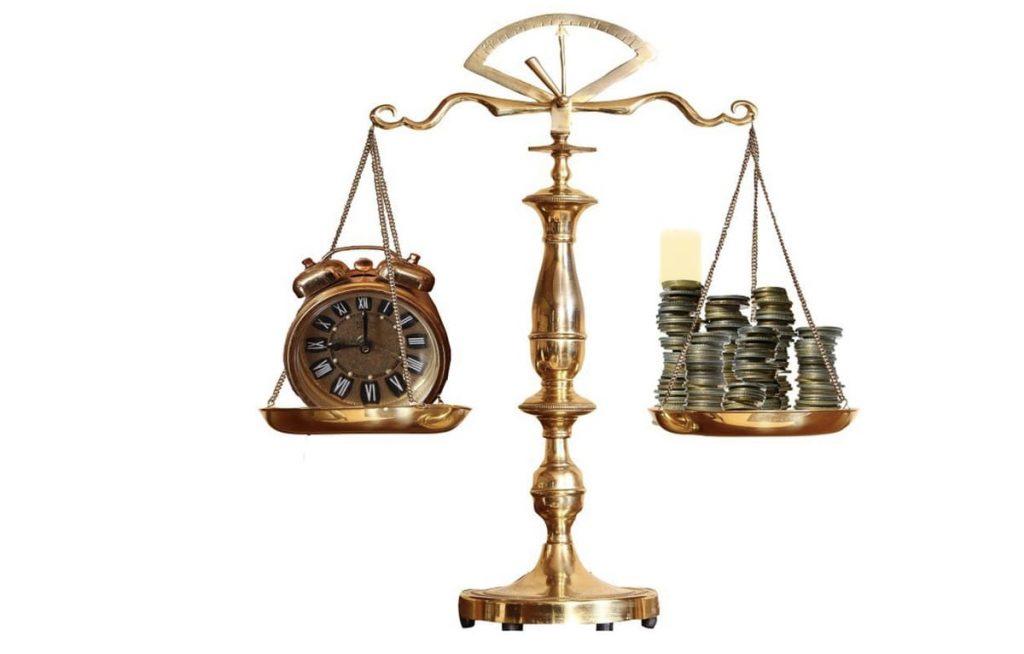 時間とお金が釣り合う
